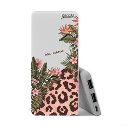 Carregador Portátil Power Bank Slim (5000mAh) - Fancy Tropical Personalizada