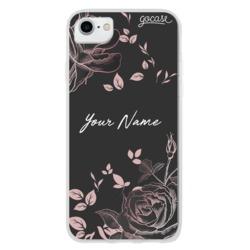 Black Rosé Customizable Phone Case