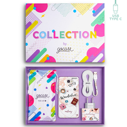 Kit Wanderlust (Samsung Case + wall charger + cable Type C + collection box)