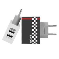 Carregador Personalizado iPhone/Android Duplo USB de Parede Gocase - Pista de Corrida Personalizada