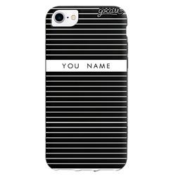 Black Case - Case Black Classic Stripes Personalizável Phone Case