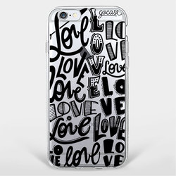Capinha para celular Love Black