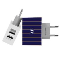 Carregador Personalizado iPhone/Android Duplo USB de Parede Gocase - Elegance Stripes