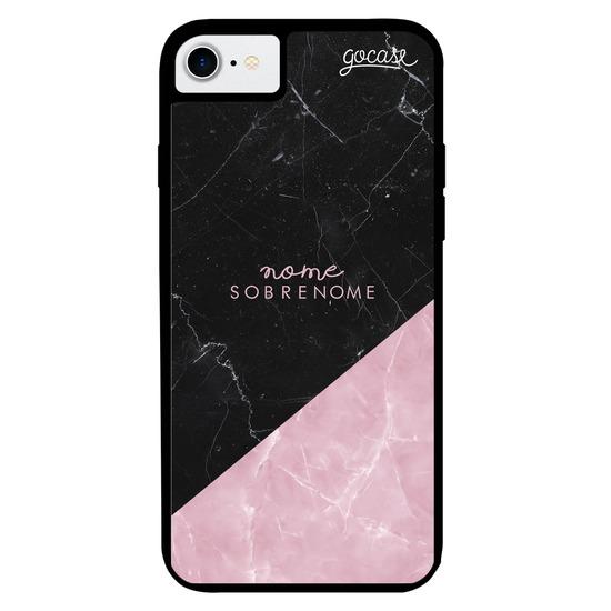 Capinha para celular Prime - Black & Rose Marble
