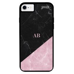 Capinha para celular Prime - Black & Rose Marble - Iniciais