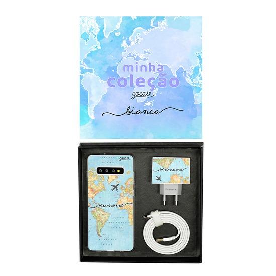 Kit Collection - Mapa Mundi - Cabo Micro USB