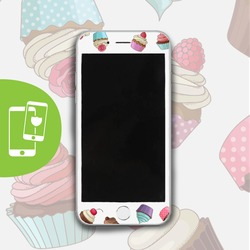 Cupcakes White Screen Protector - Tempered Glass