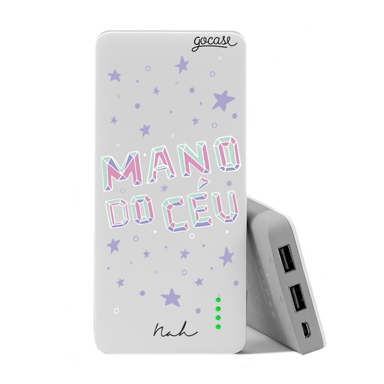Carregador Portátil Power Bank (10000mAh) - Mano Do Céu By Nah Cardoso