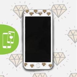 Yellow Diamonds White Screen Protector - Tempered Glass