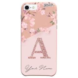 Royal Rose - Classical Rose initial Glitter Phone Case