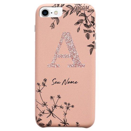 Capinha para celular Fascino - Ramos Rosê Glitter