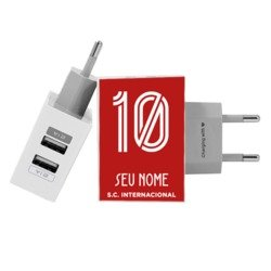 Carregador Personalizado iPhone/Android Duplo USB de Parede Gocase - Internacional - Uniforme 1 2019 - Customizado