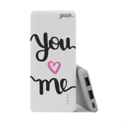 Power Bank Slim Portable Charger (5000mAh)  - You and Me