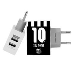 Carregador Personalizado iPhone/Android Duplo USB de Parede Gocase - Santos - Uniforme 2 - 2019