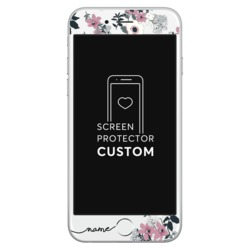 Handwritten Lovely Floral White Screen Protector - Tempered Glass