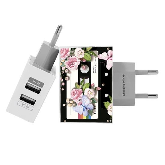 Carregador Personalizado iPhone/Android Duplo USB de Parede Gocase - Fita Com Amor By Mari Nolasco