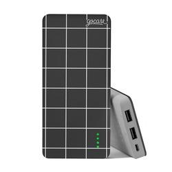 Carregador Portátil Power Bank Slim (10000mAh) - Grid Lines - Preto