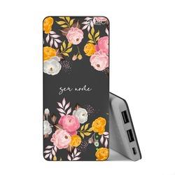 Carregador Portátil Power Bank Slim (5000mAh) Preto - Flores Parecidas Com Você Customizável By Mari Nolasco