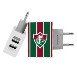 Carregador Personalizado iPhone/Android Duplo USB de Parede Gocase - Fluminense - Uniforme 1 Frente