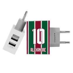 Carregador Personalizado iPhone/Android Duplo USB de Parede Gocase - Fluminense - Uniforme 1