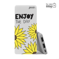 Power Bank Slim Portable Charger (5000mAh)  - Enjoy the Flowers