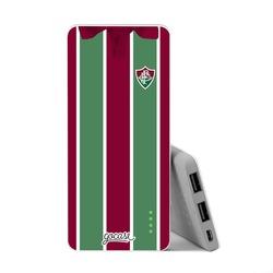Carregador Portátil Power Bank Slim (5000mAh) - Fluminense - Uniforme 1 Frente