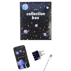 Kit Stardust Handwritten (black case + Apple cable + wallcharger + Space Travel Limited collection box)