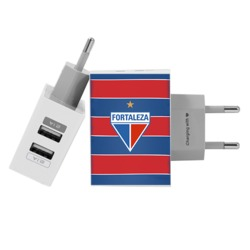 Carregador Personalizado iPhone/Android Duplo USB de Parede Gocase - Fortaleza - Escudo Tricolor