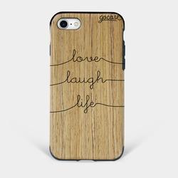 Capinha para celular Madeira Love Laugh Life