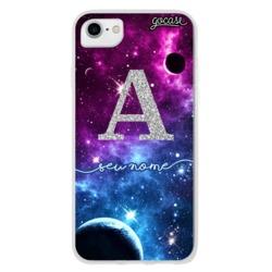 Capinha para celular Constelação Brilhante Inicial Glitter