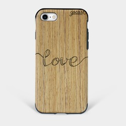 Capinha para celular Madeira Love