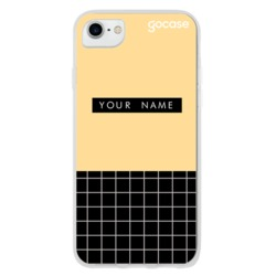 Fashion Grid Mustard Phone Case