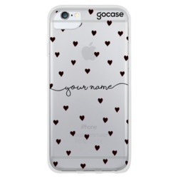 Pattern Black Hearts Handwritten Phone Case