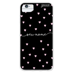 Coque Pink Hearts Handwritten