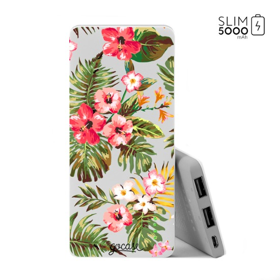 Carregador Portátil Power Bank Slim (5000mAh) - Floral