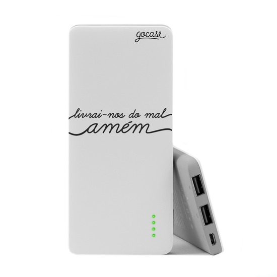 Carregador Portátil Power Bank Slim (5000mAh) - Livrai-nos do Mal