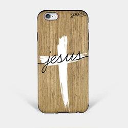 Capinha para celular Madeira Jesus