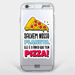 Capinha para celular Planeta Pizza