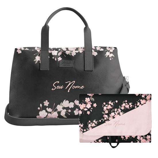 Kit Classical Rose Black (Bolsa de Viagem Joy + Necessaire Trip)