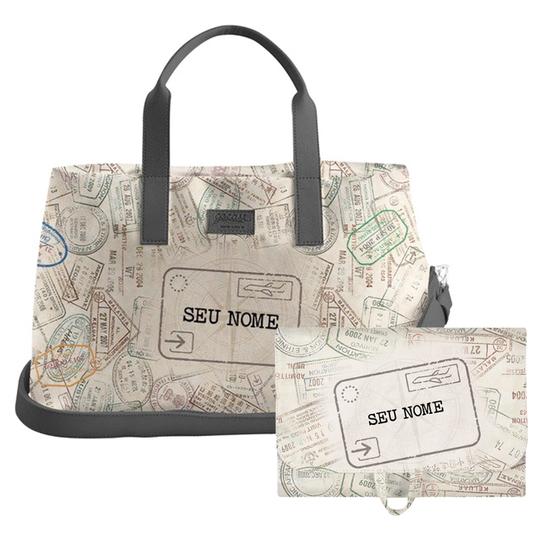 Kit Passaporte (Bolsa de Viagem Joy + Necessaire Trip)