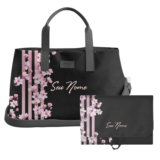 Kit Floral Lines (Bolsa de Viagem Joy + Necessaire Trip)