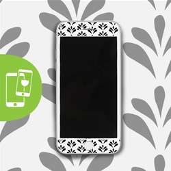 Black Petals - White Screen Protector - Tempered Glass