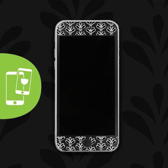 Black Petals - Black Screen Protector - Tempered Glass