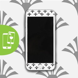 Geometric Flowers - White Screen Protector - Tempered Glass