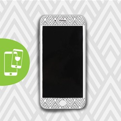 Grey Diamonds - White Screen Protector - Tempered Glass