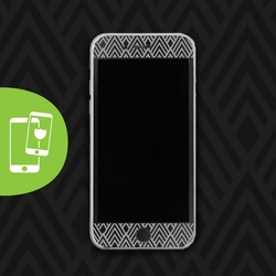 Grey Diamonds - Black Screen Protector - Tempered Glass