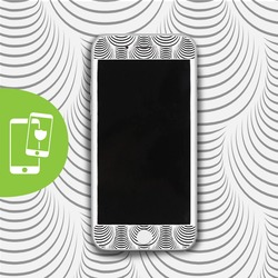 Hypnotizing Lines - White Screen Protector - Tempered Glass