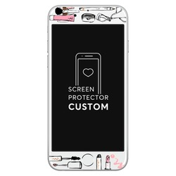 Makeup - White Screen Protector - Tempered Glass
