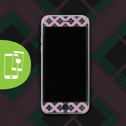 Perfect Plaid - Black Screen Protector - Tempered Glass