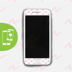 Pink Lightning - White Screen Protector - Tempered Glass